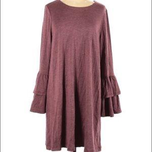 NWT Loft Ruffle Sleeve Scoop Neck Dress